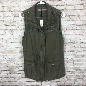 NEW! Max jeans zip up utility vest